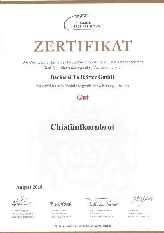 Chiafünfkornbrot