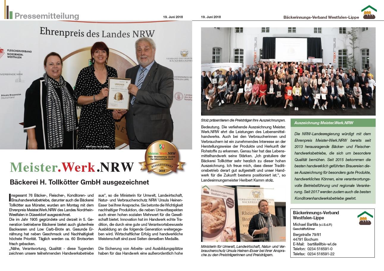 Pressetext_Meister Werk NRW Juni 2018