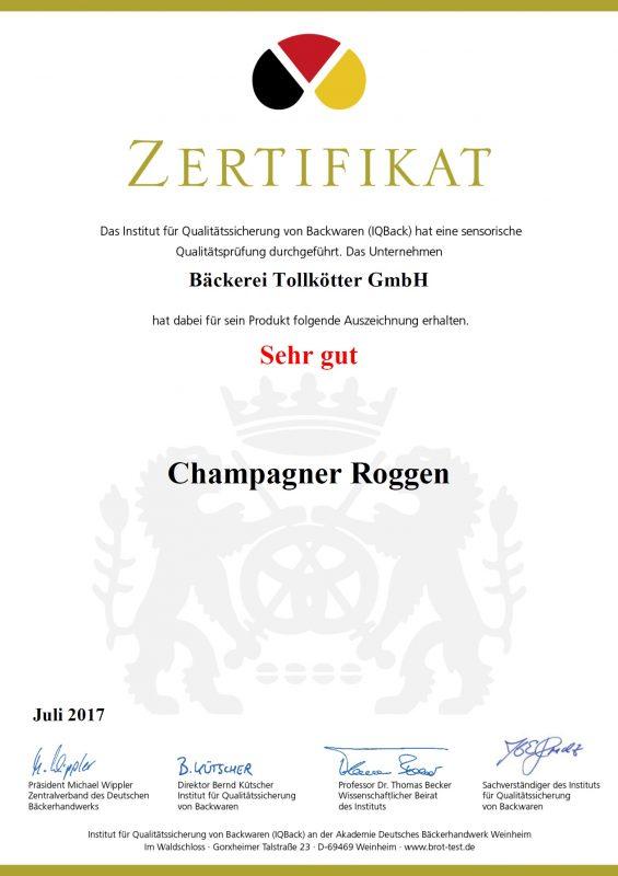 Tollkötter - Champagner Roggen